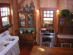 Whispering Waters cottage kitchen