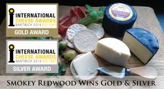 Smokey Redwood wins International Cheese Awards 2014 Gold and Silver again!