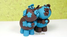 CeCe & Curtis Polymer Clay Piglets by TheWorldOfMerryBerry on Etsy, $22.00