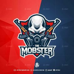 Mobster E-sports mascot logo , Best game graphic design, Top gaming inspiration ideas by yugoii Team Logo Design, Mascot Design, Game Design, Youtube Logo, Esports Logo, Sports Team Logos, Skull Logo, Photo Images, Story Instagram
