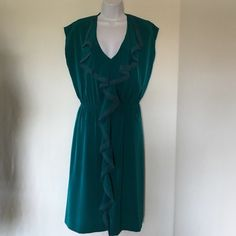 "Ivanka Trump Teal color beautiful dress Lightweight,pull on , sides pockets size XL fits to sizes 12-14.Length 40,5"" Ivanka Trump Dresses"