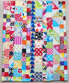 Pinkadot Quilts: Colorful Leftovers