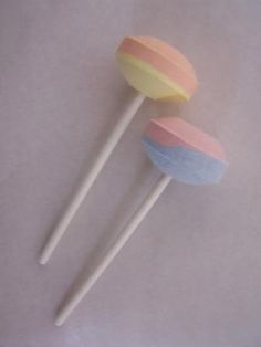 sherbet lolly pops - green and yellow was always the best.