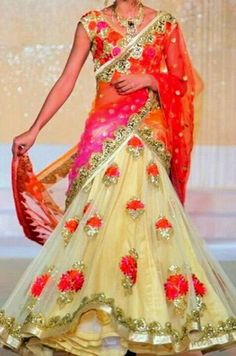 Indian lehenga - love the flowers!