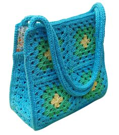 Little Girls Crochet Bag Patterns | Crochet & Craft: THE GRANNY SQUARE BAG PATTERN IN ENGLISH IS READY ...