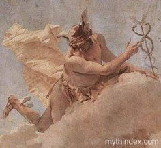 Mercury Appearing to Aeneas (detail), by Giovanni Tiepolo (1727-1804), Italian Baroque painter He acted as spy and witness to important events