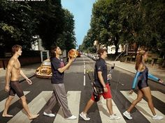American invasion: Phelps and the gang strut Abbey Road - News | NBC Olympics