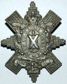10th LANARKSHIRE RIFLE VOLUNTEERS CAP BADGE C. 1881-1887