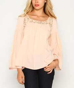 Look at this Peach Lace Swing Top on #zulily today!