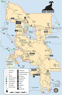 Anza-Borrego Desert State Park Maps and weather - DesertUSA