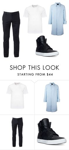 """Jun Inspired Outfit on Pretty U First Win"" by matetskieeeee on Polyvore featuring Versace, AMI, Urban Pipeline, Supra, men's fashion, menswear, seventeen, jun and prettyu"