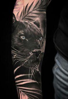Octopus Tattoo Sleeve, Animal Sleeve Tattoo, Lion Tattoo Sleeves, Best Sleeve Tattoos, Tattoo Sleeve Designs, Sexy Tattoos, Black Tattoos, Cool Tattoos, Panther Tattoos
