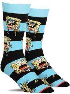 These funny SpongeBob SquarePants novelty socks are perfect for men whose favorite cartoon character lives in a pineapple under the sea! Buy Here. Crazy Socks, Fun Socks, Men's Socks, Socks Men, Nike Socks, Happy Socks, Funny Socks For Men, Urban Outfitters, Favorite Cartoon Character