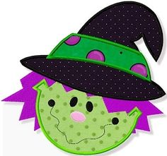 Witch Face Applique - 3 Sizes! | Halloween | Machine Embroidery Designs | SWAKembroidery.com Abigail Michelle