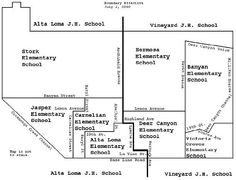 Alta Loma School District boundary map