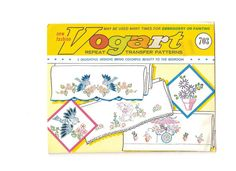 Vintage Vogart  Embroidery Transfer Pattern 703 by EclecticEmbrace