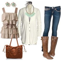 since I have pinned a ton of outfits with brown boots, i should probably get some