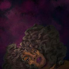 Laying in blues  By: Daria Ward  Digital Art