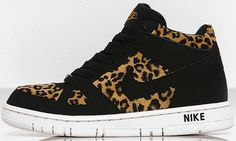 7a59030cbf08ca NIKE WOMENS AIR PRIZE 2 MID Suede Yellow-Black Leopard Print fashion  sneakers