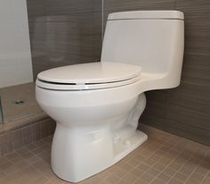Kohler Santa Rosa Compact Toilet - great for a mid-century modern bathroom remodel.