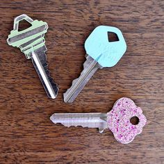 Painted Keys: Paint your keys with nail polish, so you remember which one opens what door. Photo: Sarah Lipoff
