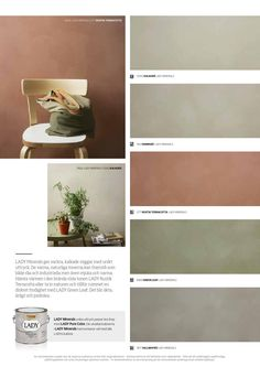 Lady Minerals - kalkmaling by Jotun Dekorativ AS - issuu Bedroom Colour Palette, Colour Pallete, Colour Schemes, Interior Paint, Interior Design Living Room, Terracotta Floor, Wall Paint Colors, Color Of The Year, My New Room