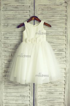 Ivory Satin Tulle Flower Girl Dress Baby Girl Dress with Flowers Sash  https://www.misdress.com/collections/flower-girl-dresses/products/ivory-satin-tulle-flower-girl-dress-baby-girl-dress-with-flowers-sash?utm_content=bufferd7e93&utm_medium=social&utm_source=pinterest.com&utm_campaign=buffer  #ivoryflowergirl #satinbabygirldress #whitedress #tulletoddlerdress #flowergirldress #weddingideas #weddinginspirations #beachwedding #outdoorwedding #gardenwedding #highqualitydress