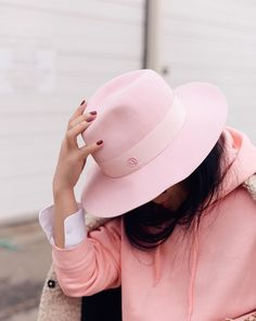 Hat: tumblr pink felt hoodie pink hoodie nail polish nails red nails pastel pink all pink everything