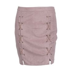 Fashion Women Ladies Clothing Skirts High Waist Lace Up Suede Leather Pocket Preppy Short Mini Skirt New Women #Affiliate