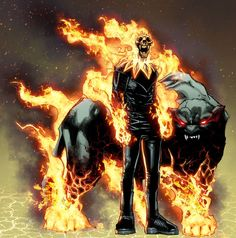 Do we choose to possibly give him a hell hound? Because technically he is bonded to a demon. That's what makes him flamey Comic Book Characters, Comic Book Heroes, Marvel Characters, Comic Character, Comic Books Art, Comic Art, Character Design, Marvel Comic Universe, Marvel Art