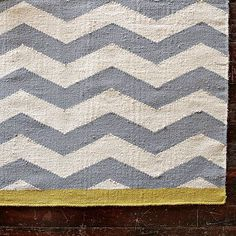 I love the Zigzag Rug - Platinum/Ivory/Citron on westelm.com