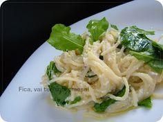 Fica, vai ter sobremesa!: Macarrão com ricota, limão siciliano e rúcula