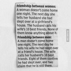 胡菁霖 (個人分享): [胡菁霖-文章分享] Friendship between women Vs Friendship between men #True