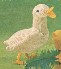 Free Duck Toy Knitting Pattern