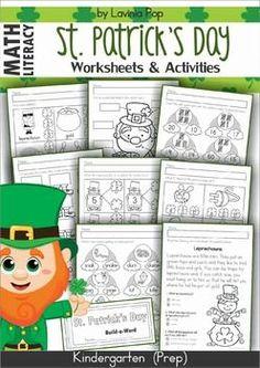 FREE St. Patrick's Day Mega Bundle Sampler. Word Work. Writing Center. No Prep Worksheets. Sight Words fluency flip books.