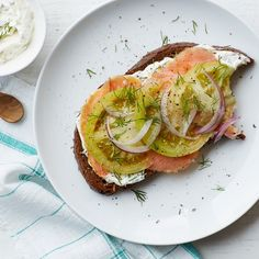 This recipe combines your favorite bagel toppers with an acidic snap of pickled green tomatoes.