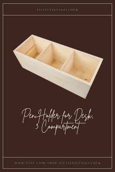A pine tree box! This box is untreated wood organizer ! Ready to use as it is or can be transform into your own creation! #decoupagewoodbox,#naturalwoodbox,#rusticwoodbox,#compartmentbox,#officestoragebox,#deskorganizer,#tableorganizer,#uppliesorganize,#r3compartments,#woodenorganizer,#deskaccessories,#penholderfordesk,#penpencilholder Serving Trays With Handles, Serving Tray Wood, Wooden Gifts For Her, Unfinished Wood Boxes, Wooden Box Designs, Rustic Wood Box, Wooden Desk Organizer, Wooden Man, Tree Box