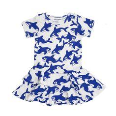 Killer Whale Dress - Mini Rodini Online - Kinderkleding Webshop Goldfish.be