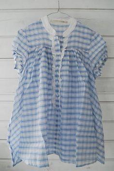 Over At Blue Gingham Cottage Blue Dream, Love Blue, Blue And White, Blue Gingham, Gingham Check, White Plaid, Bleu Pale, Romantic Outfit, Fashion Moda