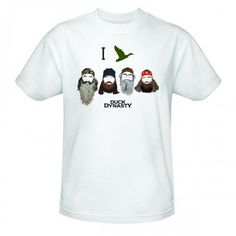 Duck Dynasty I Duck Group Silhouette T-Shirt - White-- I REALLY want this!!!!