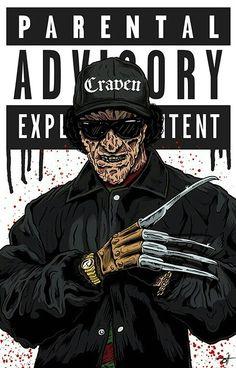 """We want Eazy!"" 😂 I meant Freddy. ""We want Freddy! Horror Cartoon, Horror Icons, Horror Films, Horror Art, Cartoon Art, Horror Quotes, Real Horror, Halloween Movies, Scary Movies"
