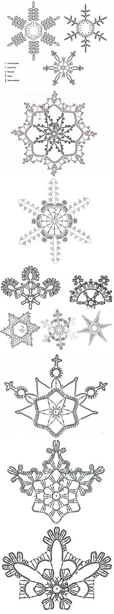 pl – Discover, collect, buy – Snowflakes World Crochet Diagram, Crochet Motif, Irish Crochet, Diy Crochet, Crochet Doilies, Crochet Flowers, Crochet Patterns, Knitting Patterns, Crochet Snowflake Pattern