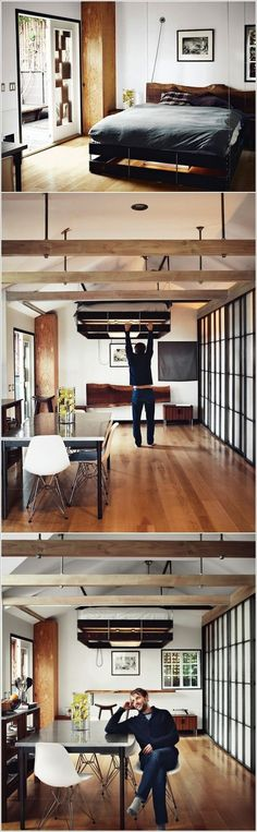 Although most of us would love to live in a large, spacious house with enough room to swing several cats, the reality is, most of us don't. If your apartment is cramped and lacks space, don't be down about it! Get some inspiration from these awesome ideas!