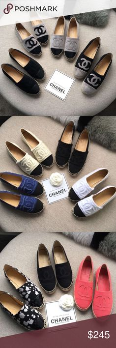 New Chanel espadrilles Brand new. Comes complete with box and dust bag. Comment with which you want and size. CHANEL Shoes Espadrilles