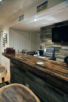 44 Reclaimed Wood Rustic Countertop Ideas 7