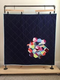 Hexagon Baby Quilt by Salty Oat clever and very modern! Quilt Making, Baby Quilts, Contemporary, Modern, Kids Rugs, Sewing, Quilting, Hexagons, How To Make