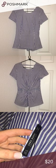 I don't have big enough boobs for this shirt haha The shirt is super cute with the open back with the cut outs!! It's such a cute shirt but doesn't fit me right. Zara Tops Blouses