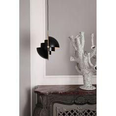 Multi Lite Pendant by Gubi Geometric Form, Accent Lighting, Light Installation, Shades Of Black, Danish Design, Pendant Lamp, Brass, Room, Liv