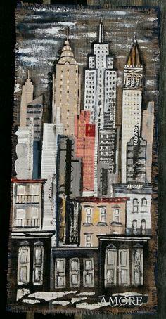 Skyline collage 60x100