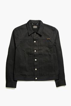 """Nudie Jeans - Sonny Jacket in """"Dry Black Selvedge"""""""